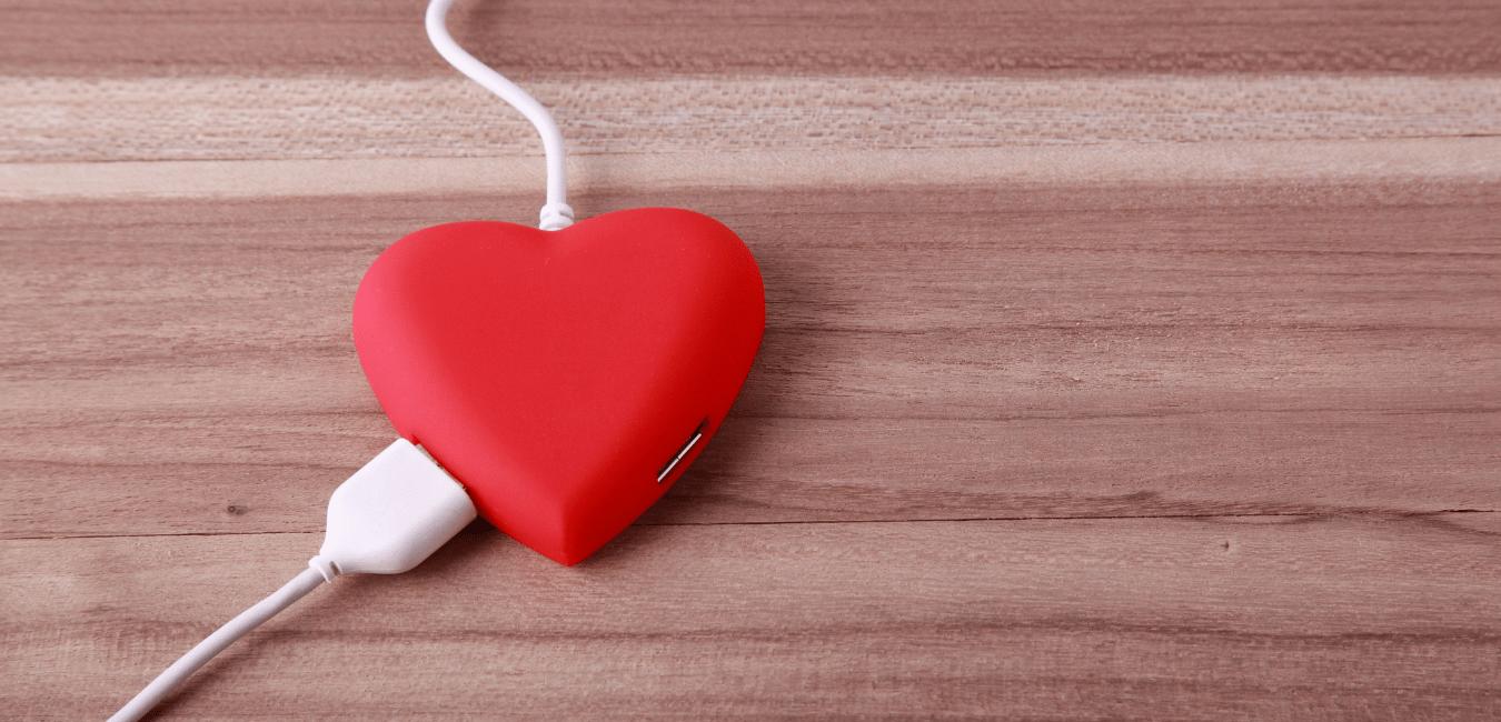 heart with plug